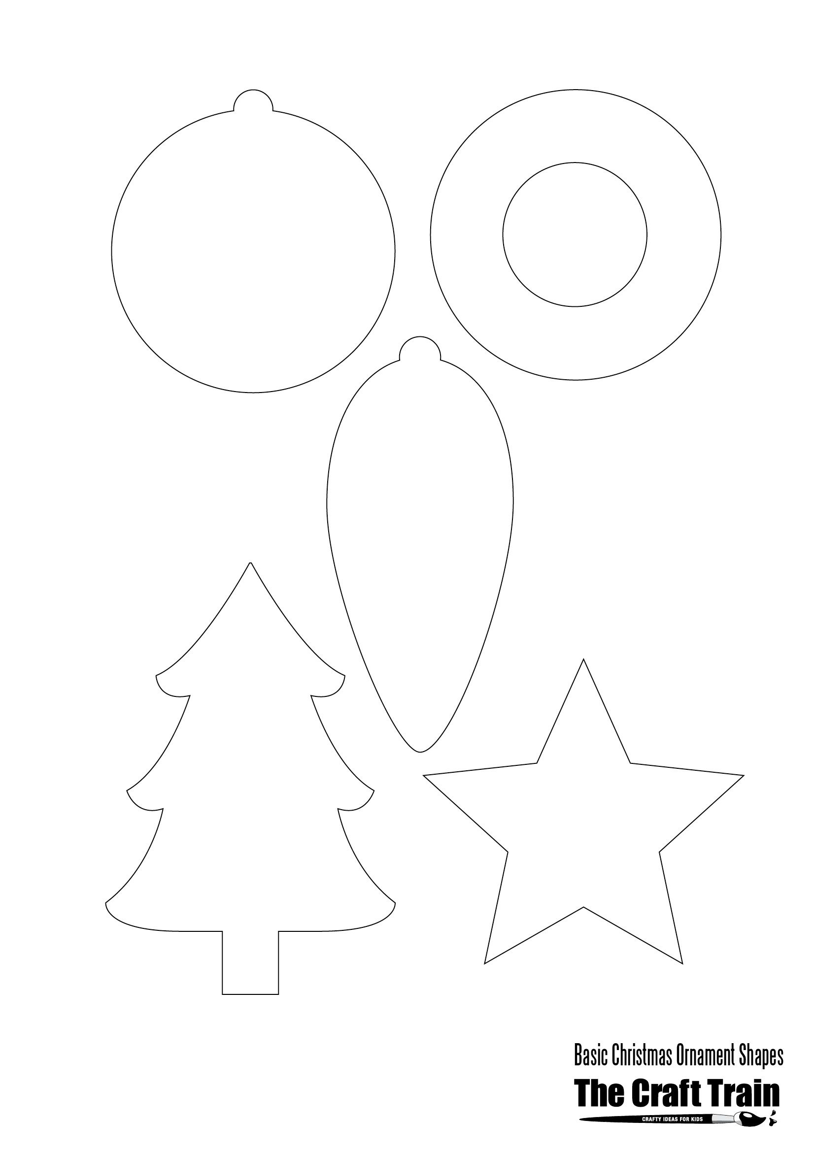 Printable Christmas Shapes   Christmas   Christmas Printables - Free Printable Christmas Cutouts