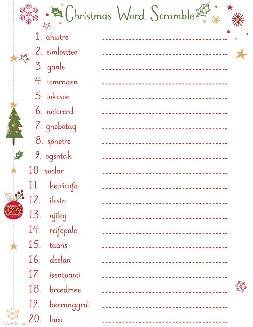 Printable Christmas Word Scramble | Christmas Ideas | Christmas Word - Christmas Song Scramble Free Printable