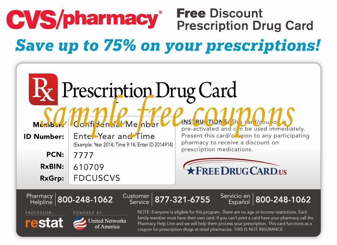 Printable Coupons: Cvs Pharmacy Coupons | Printable Coupons - Free Printable Prescription Coupons