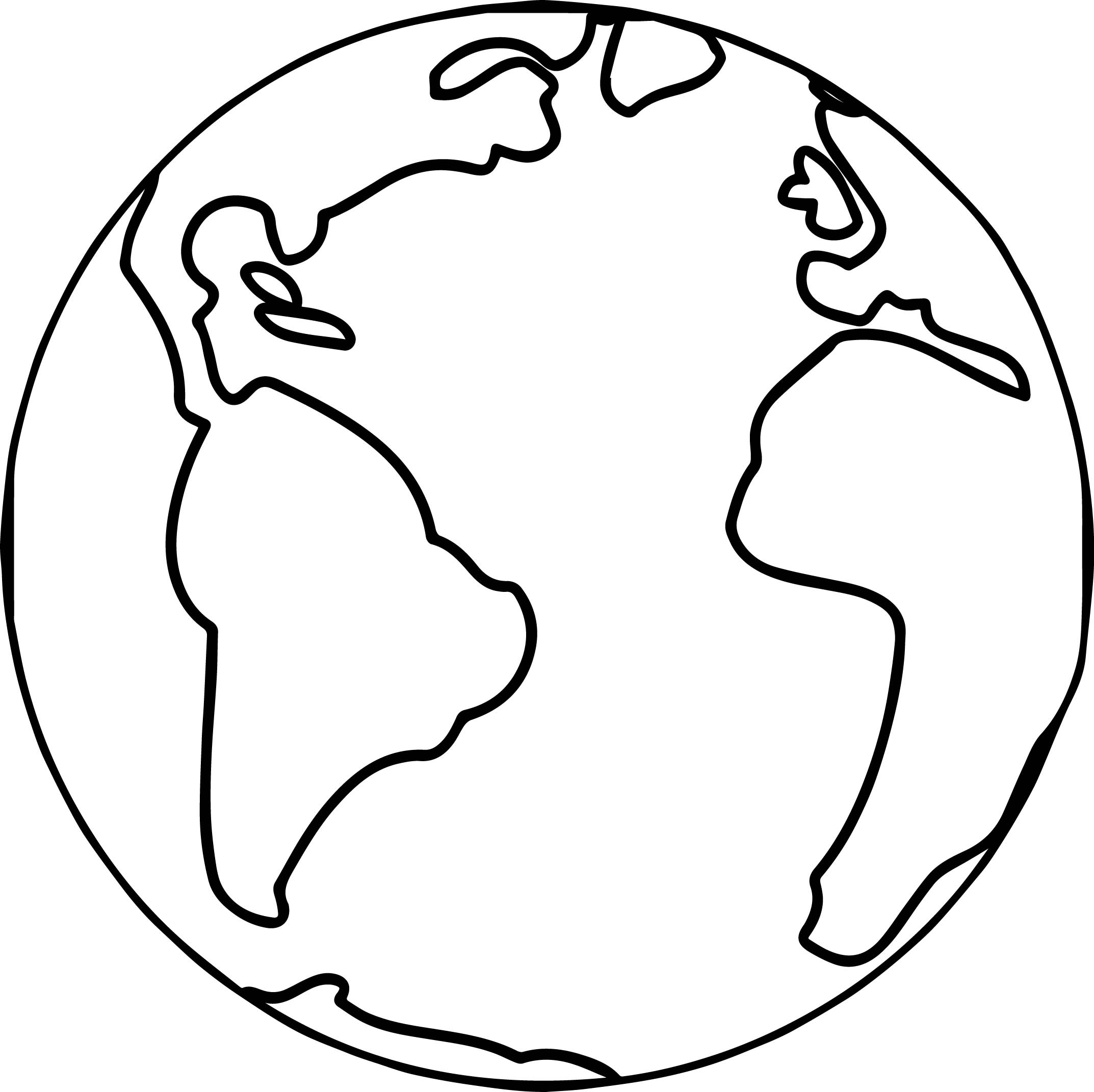 Printable Earth Coloring Pages   Free Download Best Printable Earth - Earth Coloring Pages Free Printable