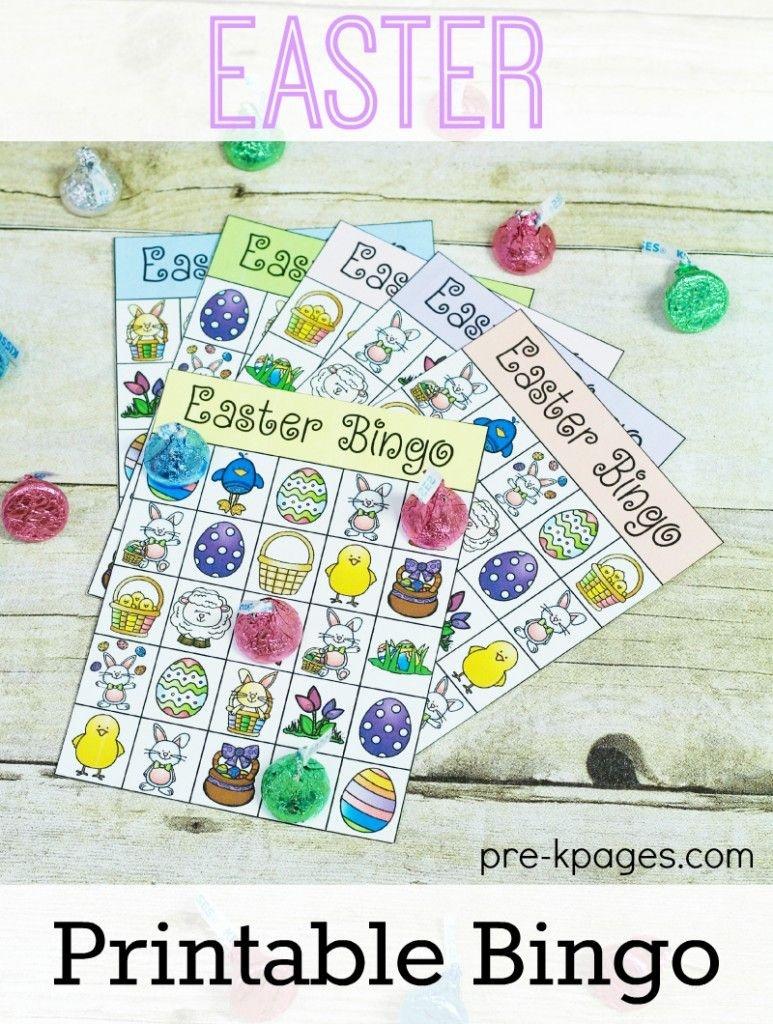 Printable Easter Bingo Game | Preschool Easter Theme | Easter Bingo - Free Printable Religious Easter Bingo Cards
