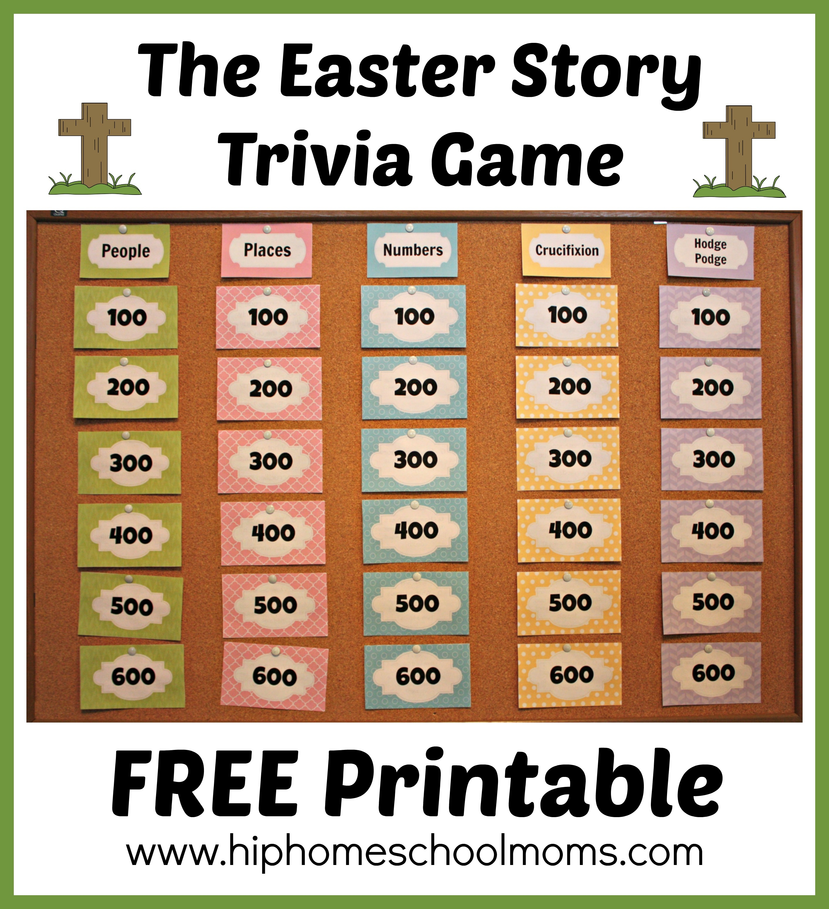 Printable Easter Story Trivia Game | Hip Homeschool Moms - Free Printable Bible Trivia For Adults