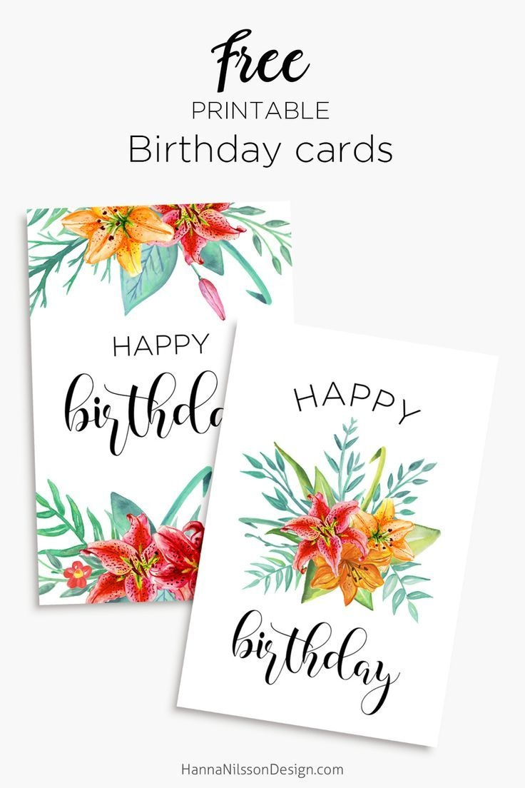 Printable Floral Birthday – Cards, Tags & Gift Box   Cards   Free - Free Printable Greeting Cards For All Occasions