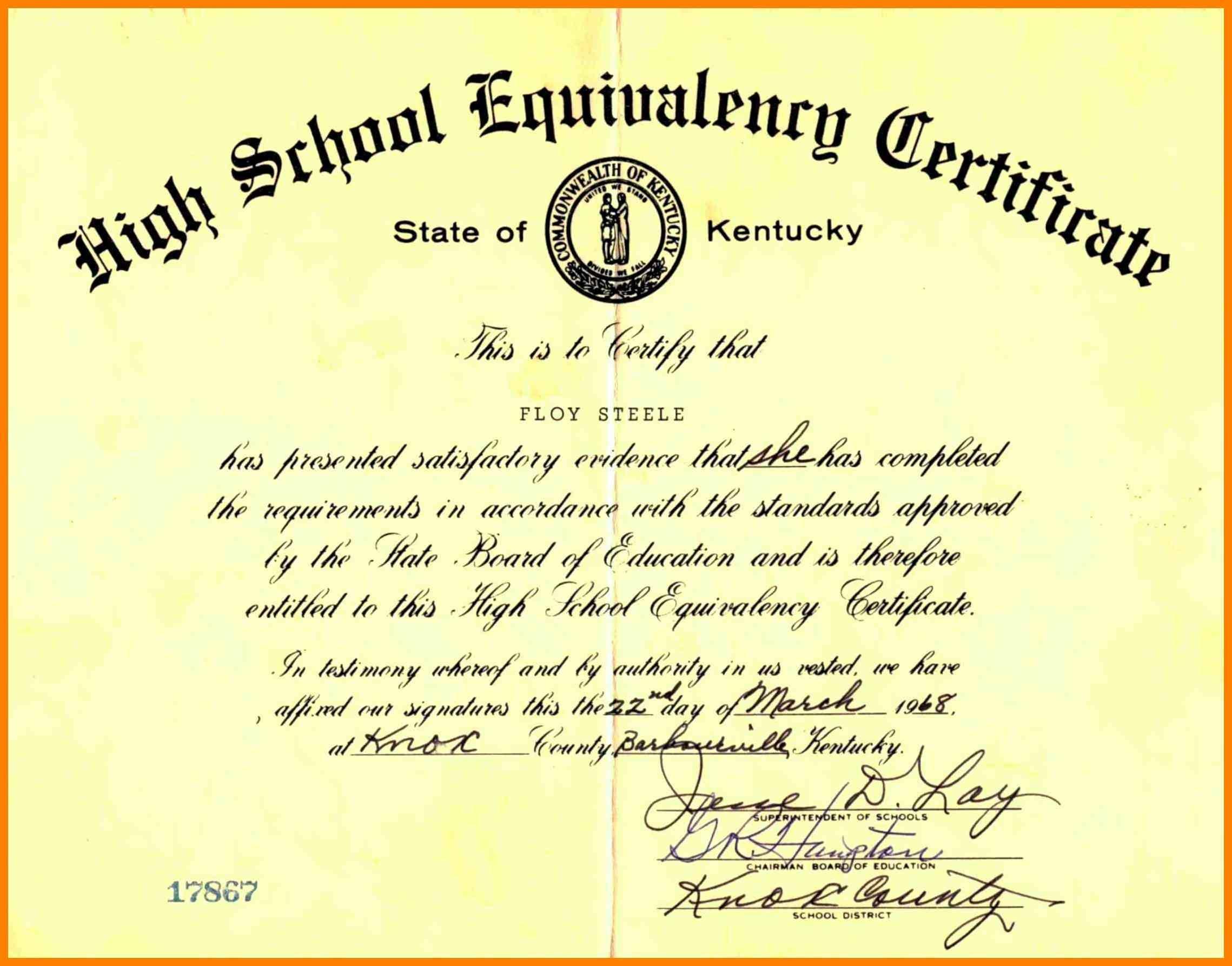 Printable Ged Certificate Blank Ged Certificate Awesome Printable - Free Printable Ged Certificate