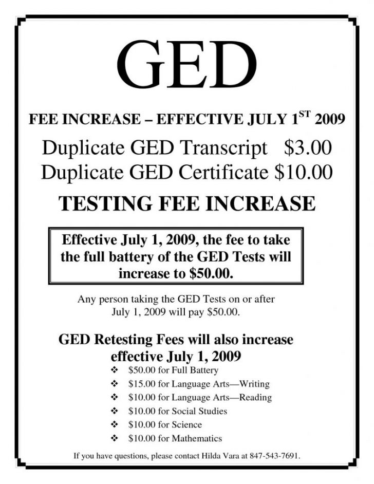 Printable Fake Ged Certificate For Free