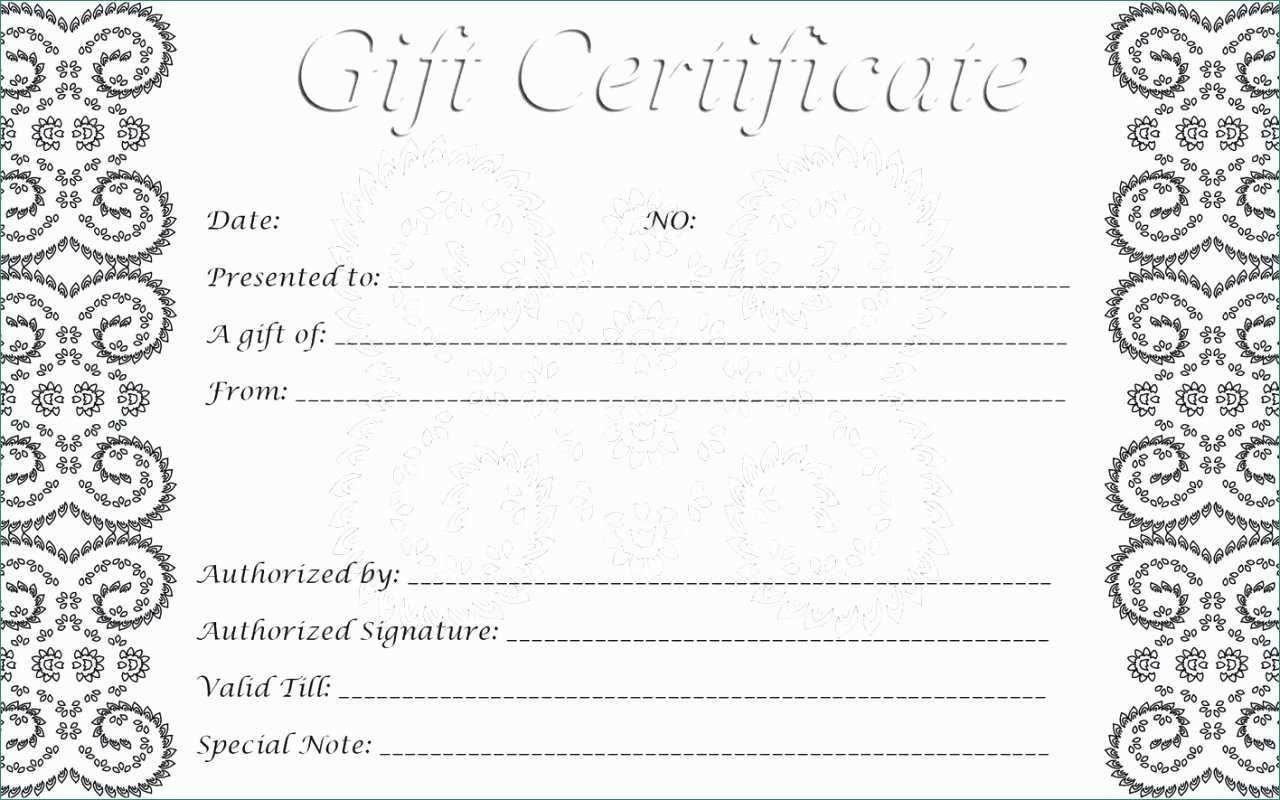 Printable Gift Voucher Template Free   Panglimaword.co - Free Printable Gift Certificates For Hair Salon