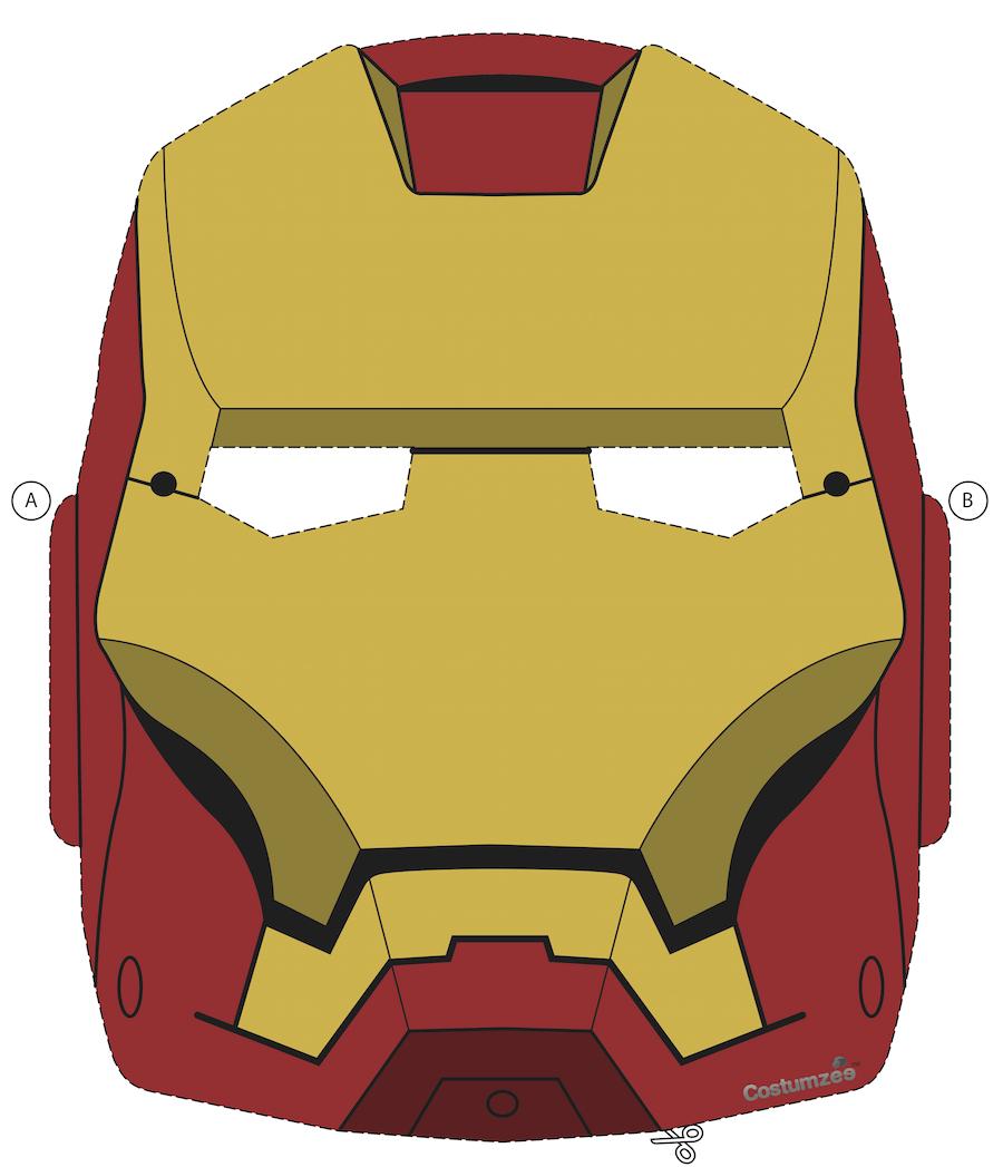 Printable Halloween Masks In 2019 | Halloween - Masks & Costumes - Free Printable Ironman Mask