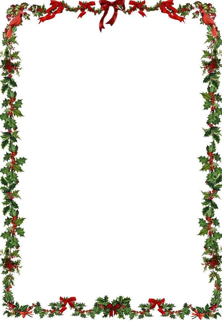 Printable Holiday Newsletter Border   Christmas & New Year's - Free Printable Christmas Frames And Borders