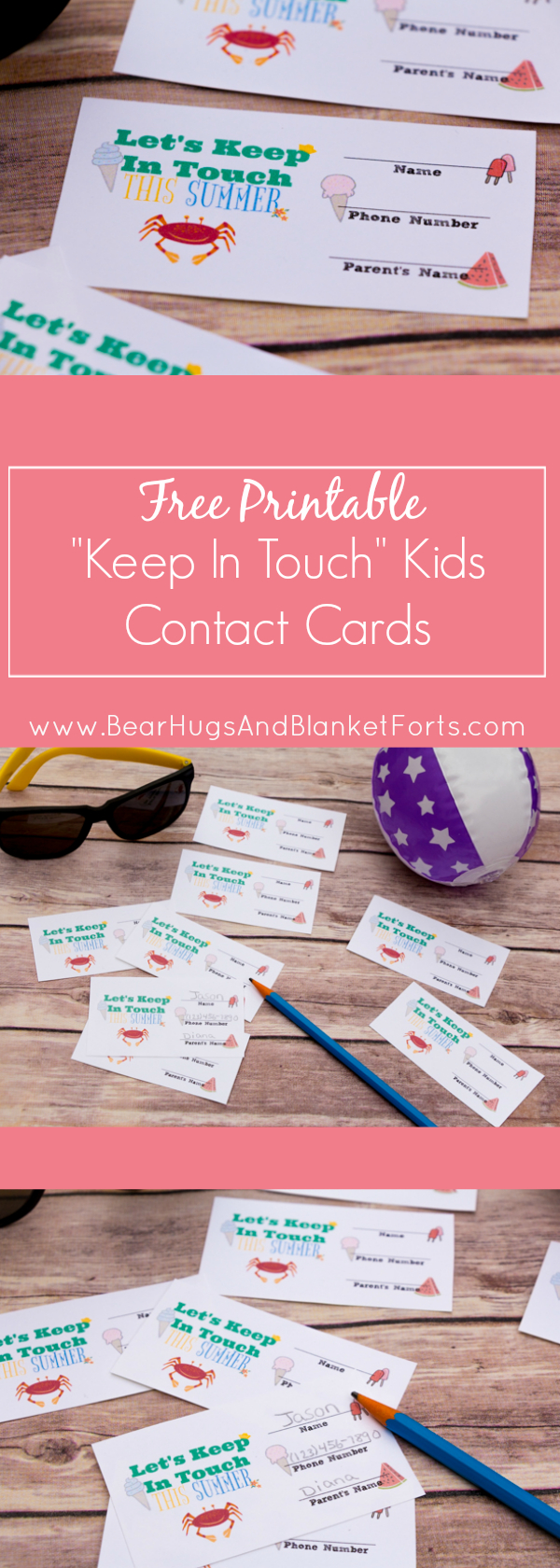 Printable Kids Contact Cards – Keep In Touch With Classmates & Camp - Free Printable Play Date Cards