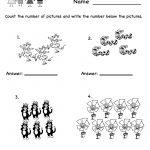 Printable Kindergarten Worksheets | Counting Worksheet – Free – Free Printable Kindergarten Math Activities
