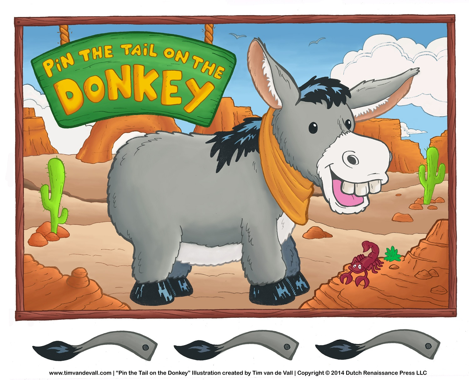Printable Pin The Tail On The Donkey Game   Birthday Party Activities - Pin The Tail On The Donkey Printable Free