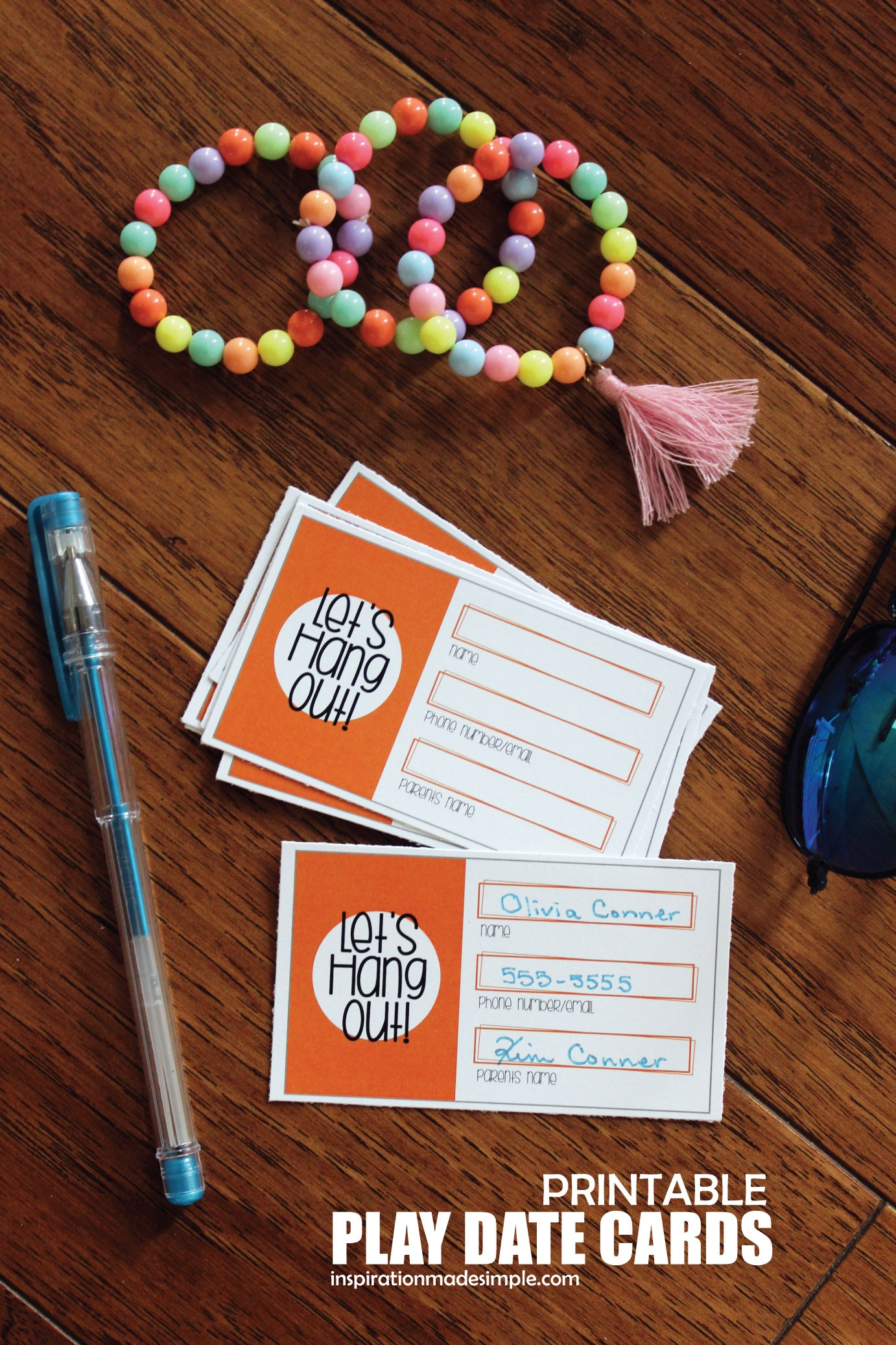Printable Play Date Cards For Kids - Inspiration Made Simple - Free Printable Play Date Cards