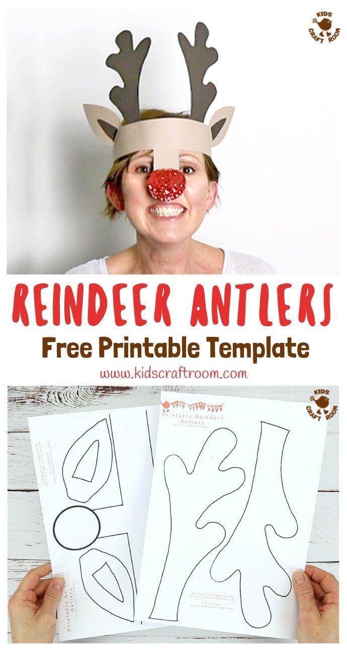 Printable Reindeer Antlers Hat | Printable Crafts | Childrens - Free Printable Crafts For Preschoolers