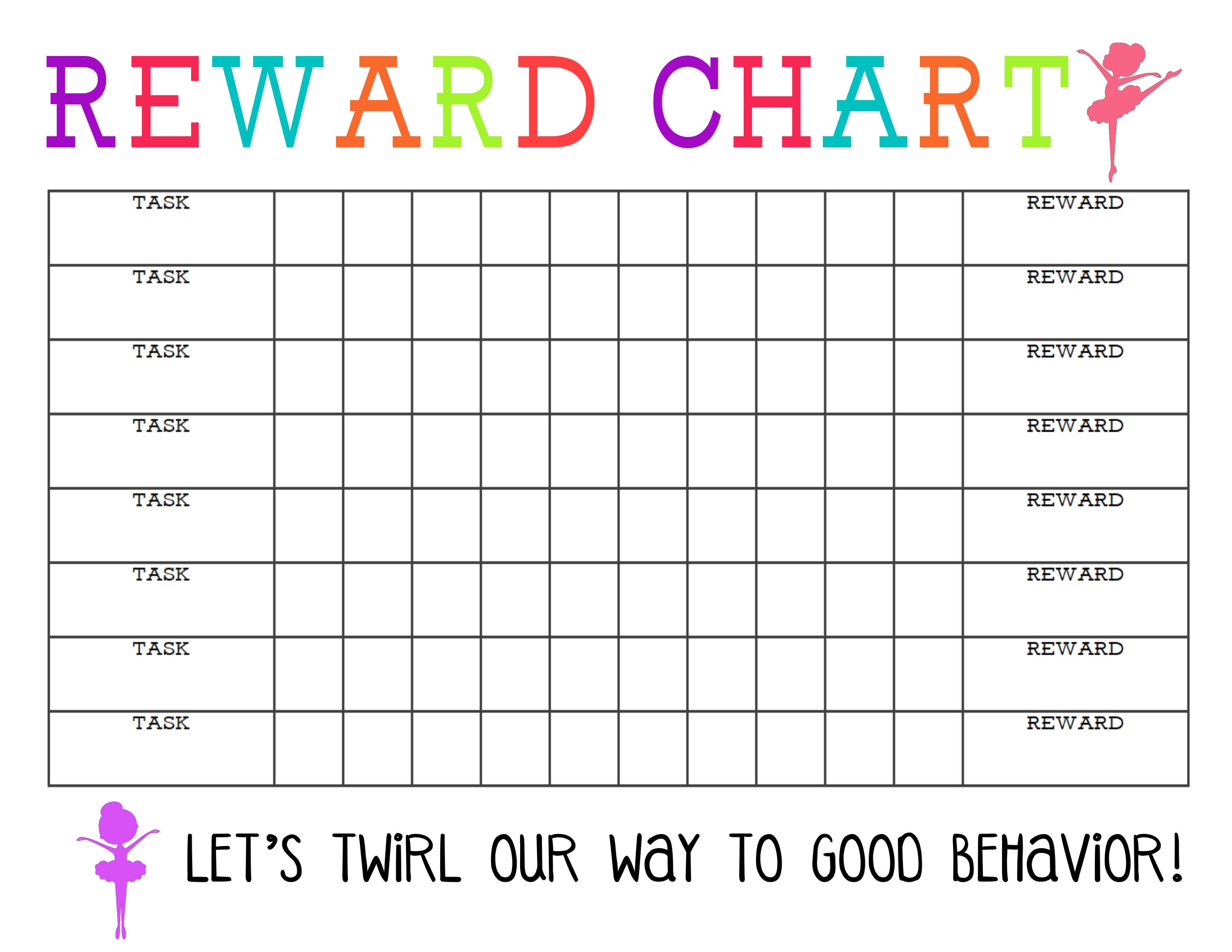 Printable Reward Chart - The Girl Creative - Free Printable Reward Charts For Teenagers