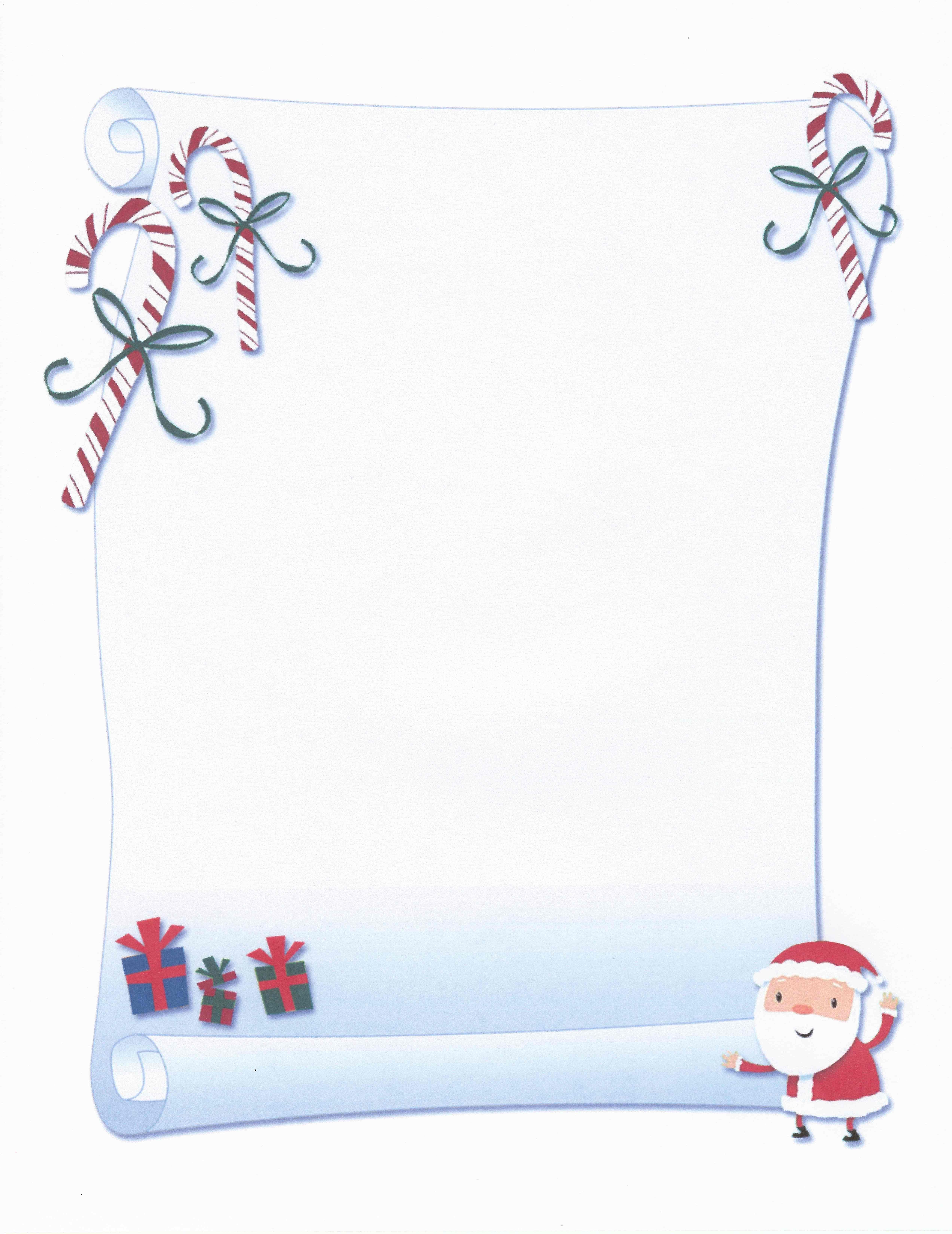 Printable Santa Scroll Certificate Stationery   Stationary   Free - Free Printable Birthday Scrolls