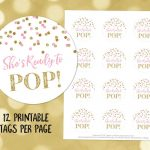 Printable She's Ready To Pop Round Favor Tags Light Pink | Etsy   Free Printable She's Ready To Pop Labels