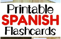 Printable Spanish Flashcards – Look! We're Learning! – Free Printable Spanish Alphabet Worksheets