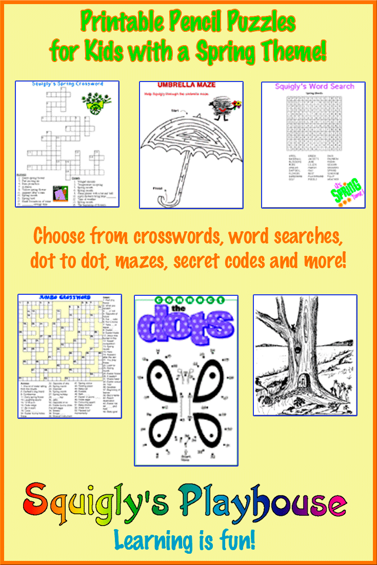 Printable Spring Puzzles For Kids | Squigly's Playhouse - Free Printable Puzzles For Kids