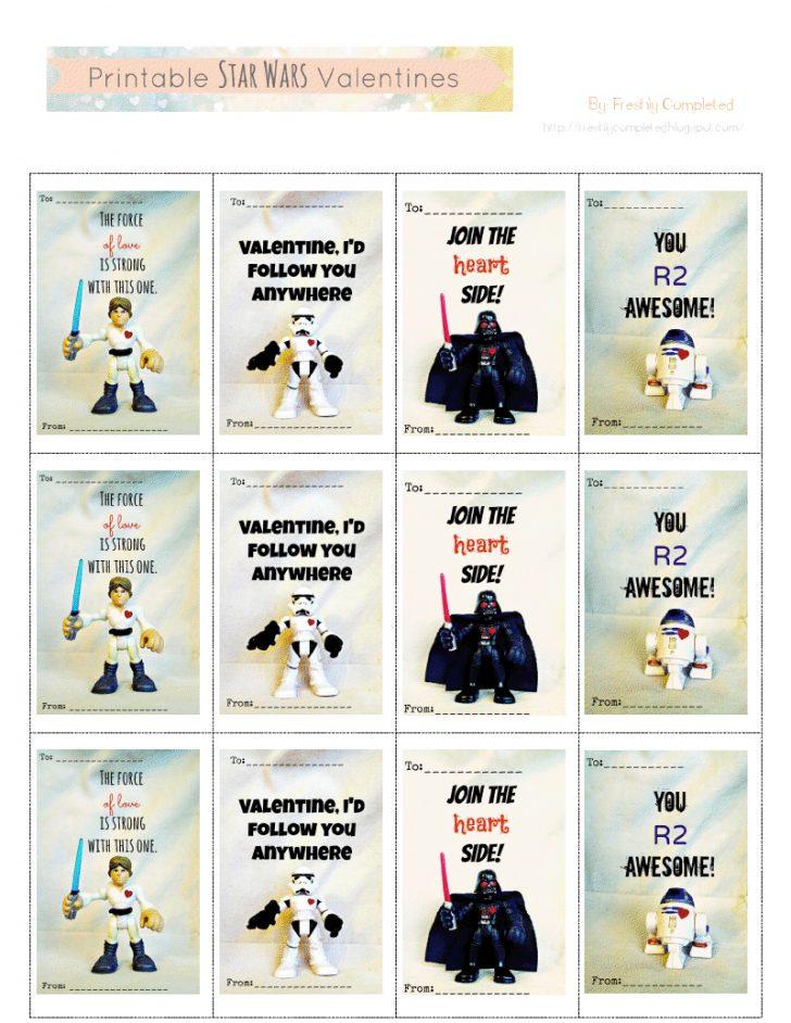 Free Printable Lego Star Wars Valentines