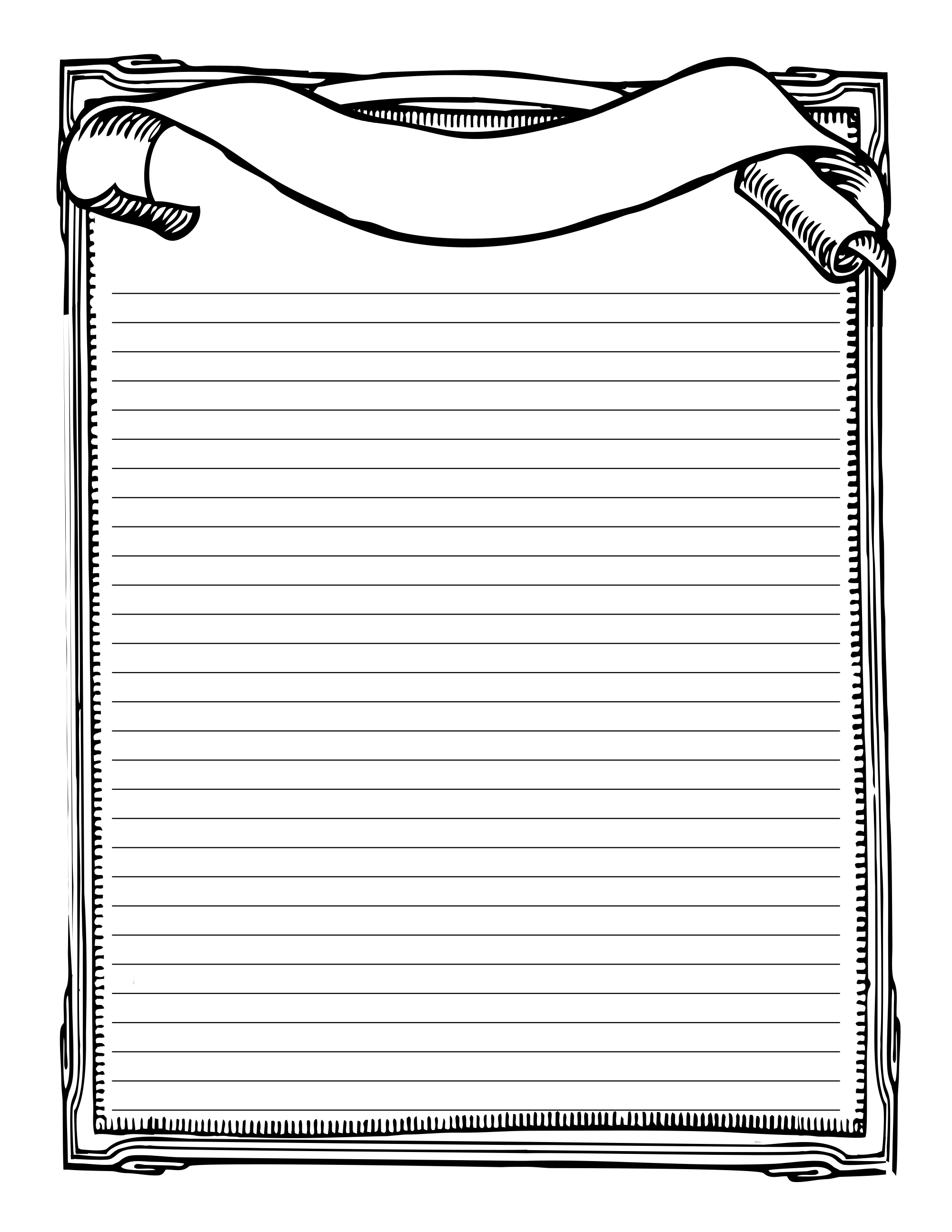 Printable Stationary Page Book Of Shadows Free Download   Bos Blank - Free Printable Golf Stationary