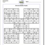 Printable Sudoku Samurai! Give These Puzzles A Try, And You'll Be   Free Printable Samurai Sudoku