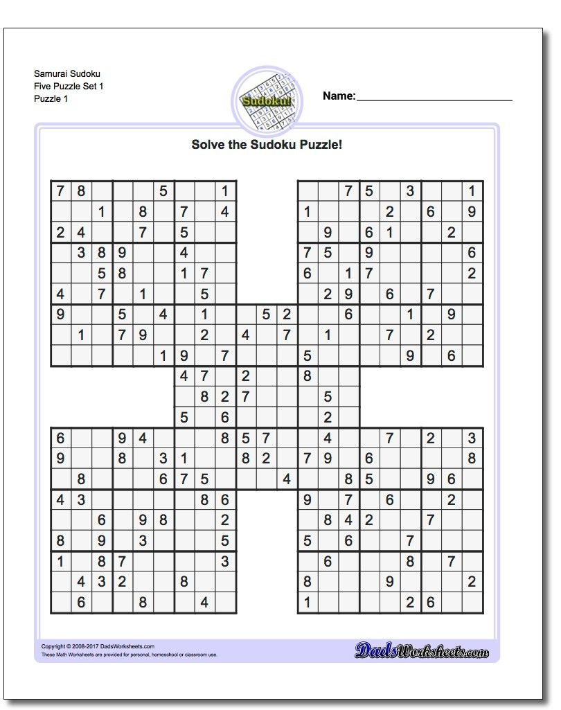 Printable Sudoku Samurai! Give These Puzzles A Try, And You'll Be - Sudoku 16X16 Printable Free