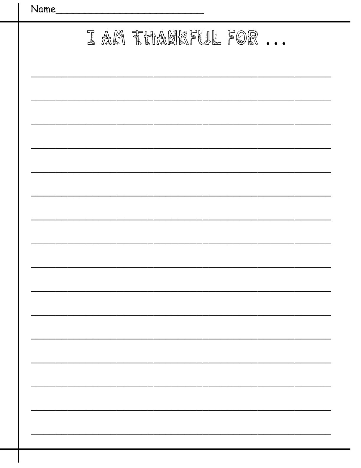 Printable Thanksgiving Writing Papers – Happy Easter & Thanksgiving 2018 - Free Printable Thanksgiving Writing Paper