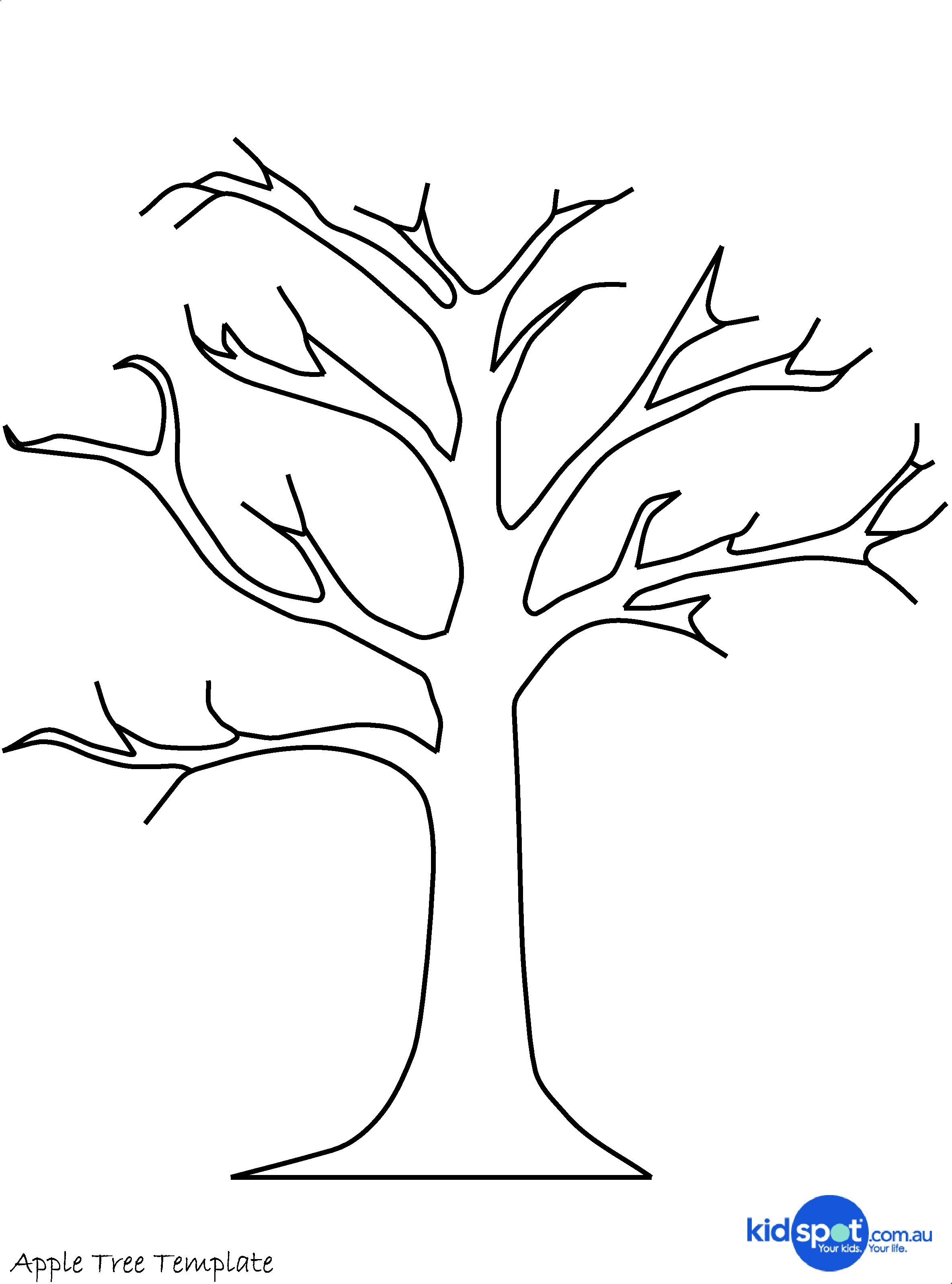 Printable Tree Template   Tree Craft - Cork Stamp Apple Tree - Art - Free Printable Palm Tree Template