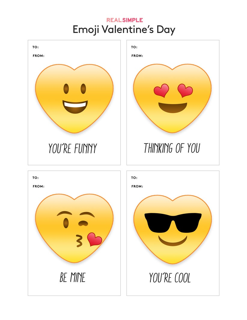 Printable Valentine's Day Cards | Real Simple - Free Printable Valentines Day Cards For Parents