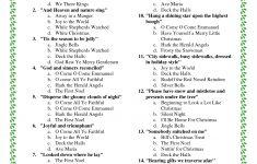 Printable+Christmas+Song+Trivia | Christmas | Christmas Trivia – Christmas Song Lyrics Game Free Printable