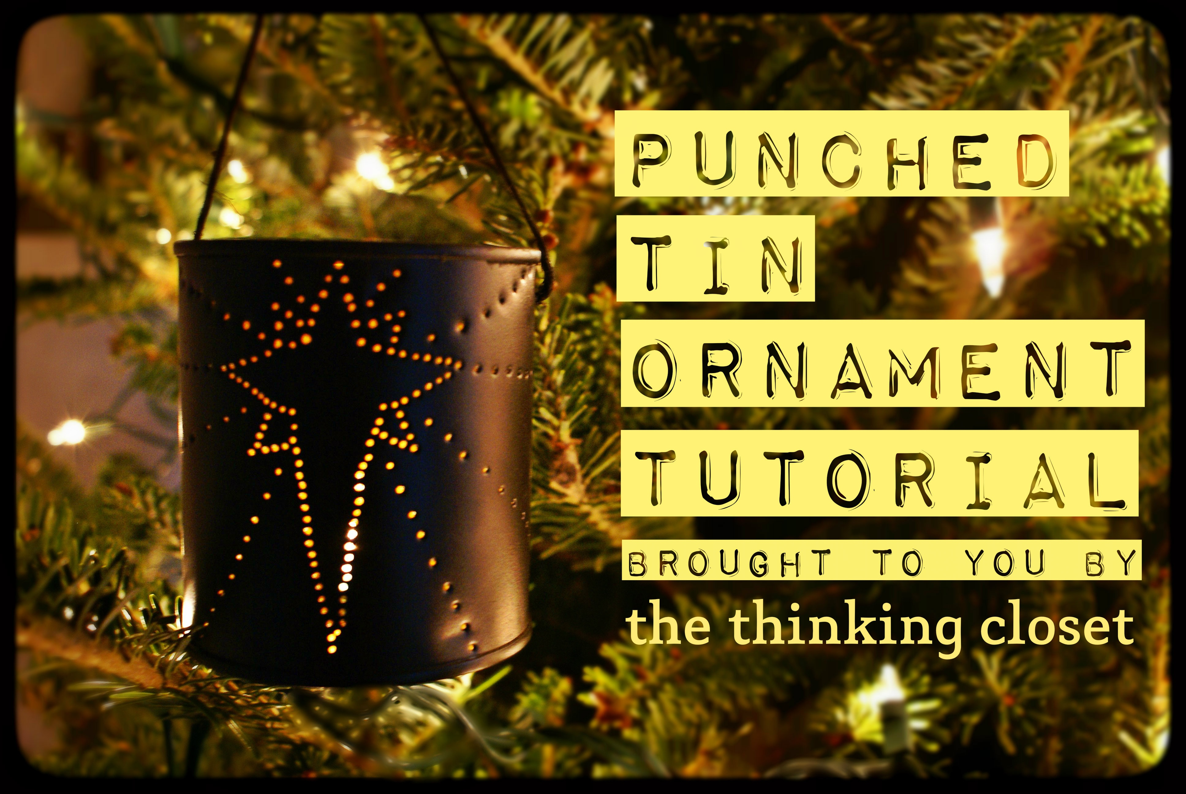 Punched Tin Ornament Tutorial - The Thinking Closet - Printable Tin Punch Patterns Free