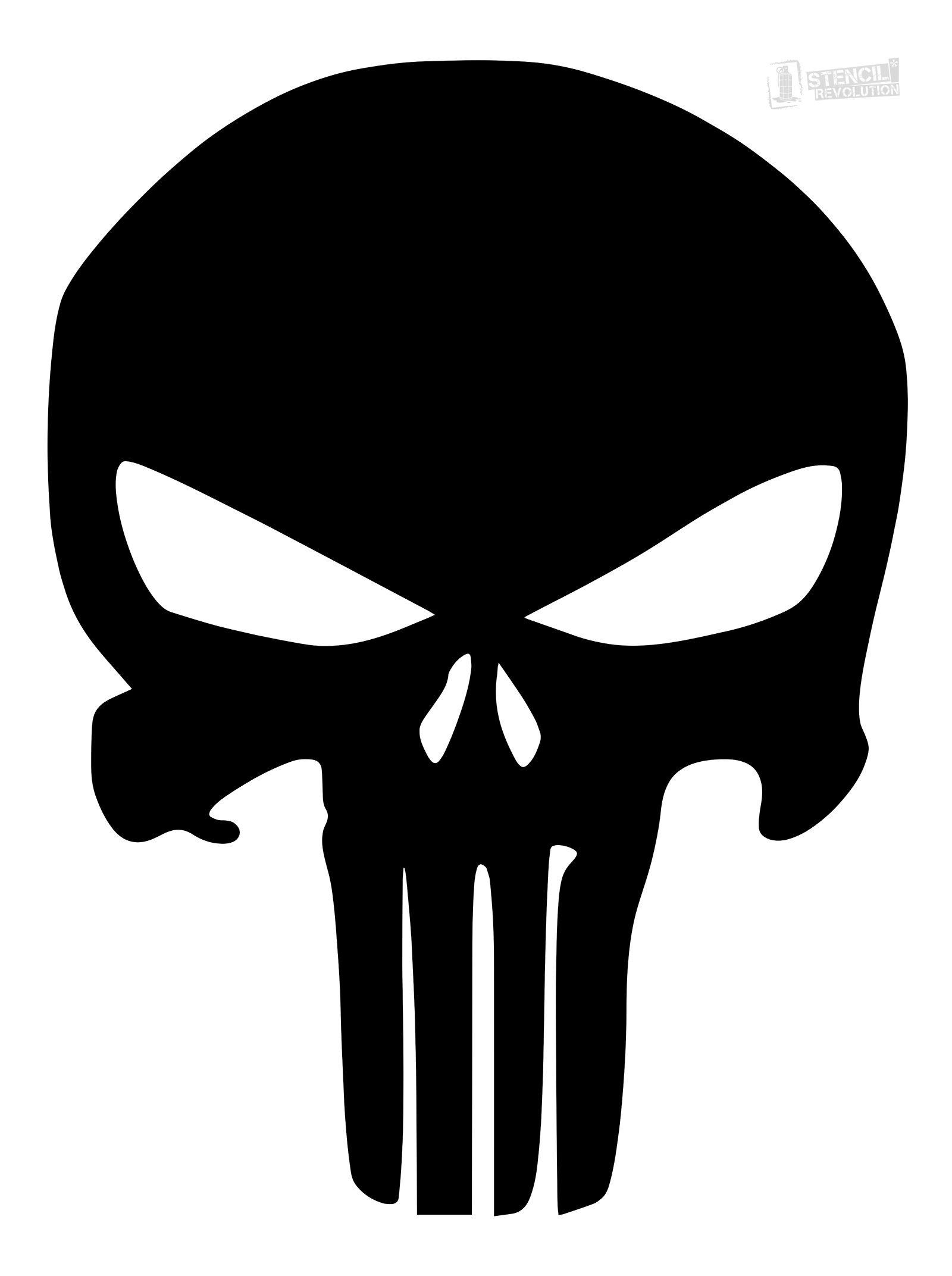 Skull Stencils Free Printable | Free Printable A to Z