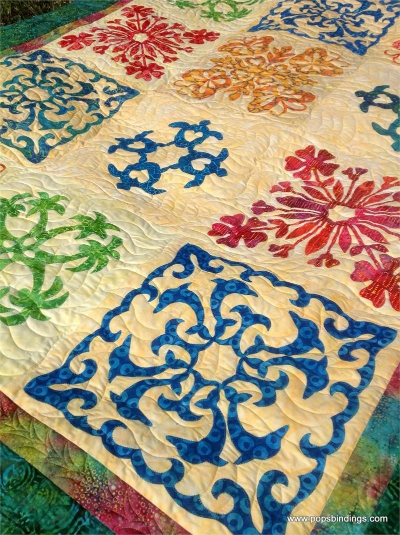 Quilt Kits | Easy Hawaiian Quilting - Honolulu Sampler Quilt Kit W - Free Printable Hawaiian Quilt Patterns
