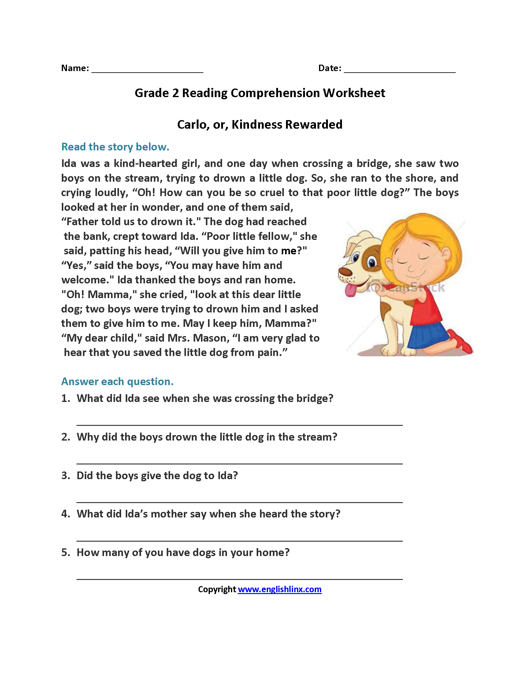 Reading Worksheets   Second Grade Reading Worksheets - Free Printable Reading Passages For 3Rd Grade