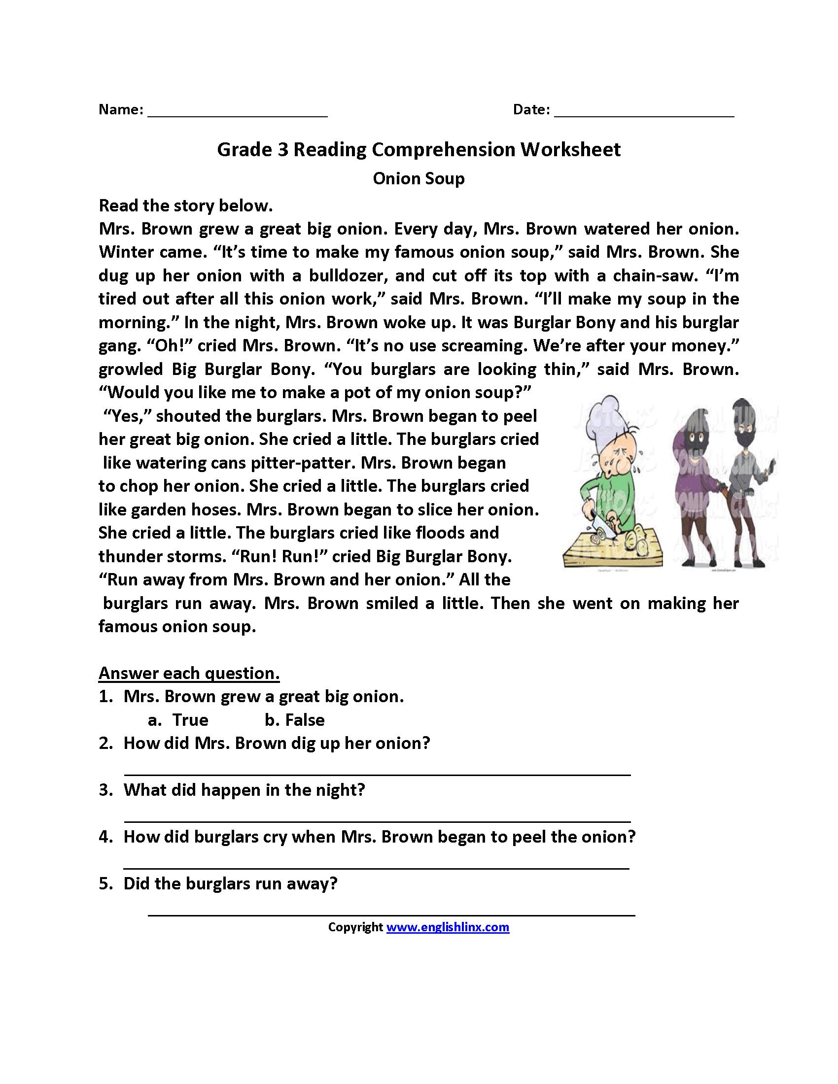 Reading Worksheets | Third Grade Reading Worksheets - Third Grade Reading Worksheets Free Printable