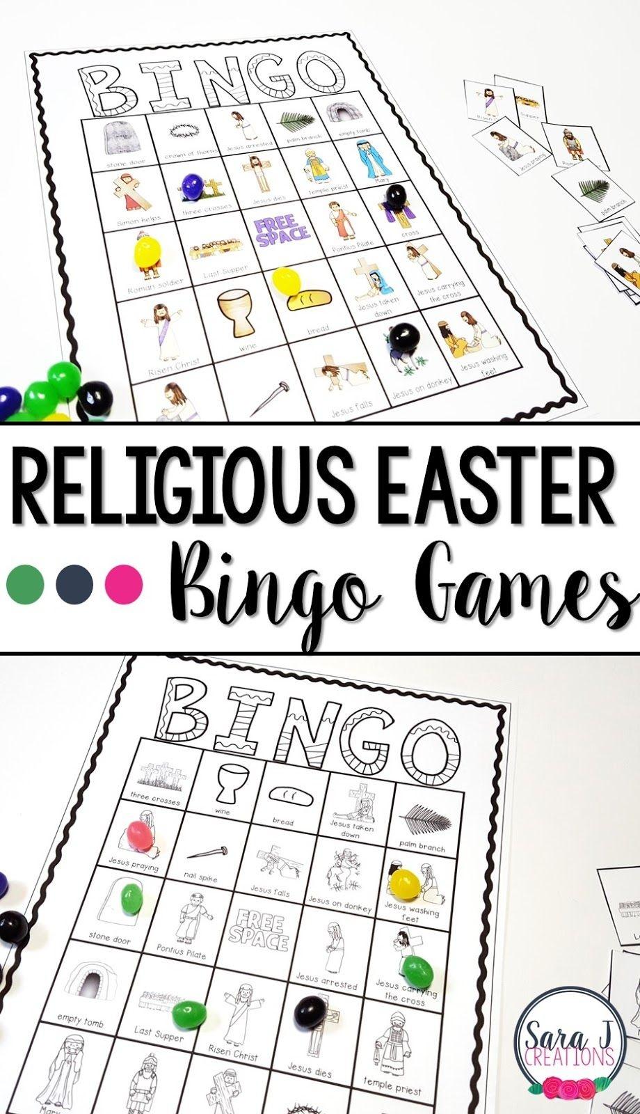 Religious Easter Bingo | Catholic Kids | Easter Bingo, Easter - Free Printable Religious Easter Bingo Cards