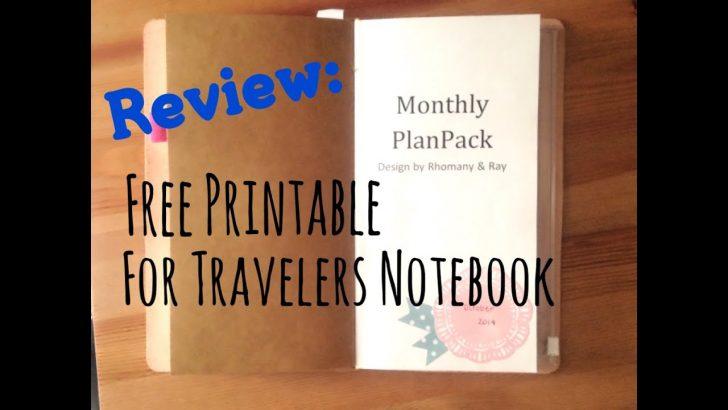 Free Printable Traveler's Notebook Inserts