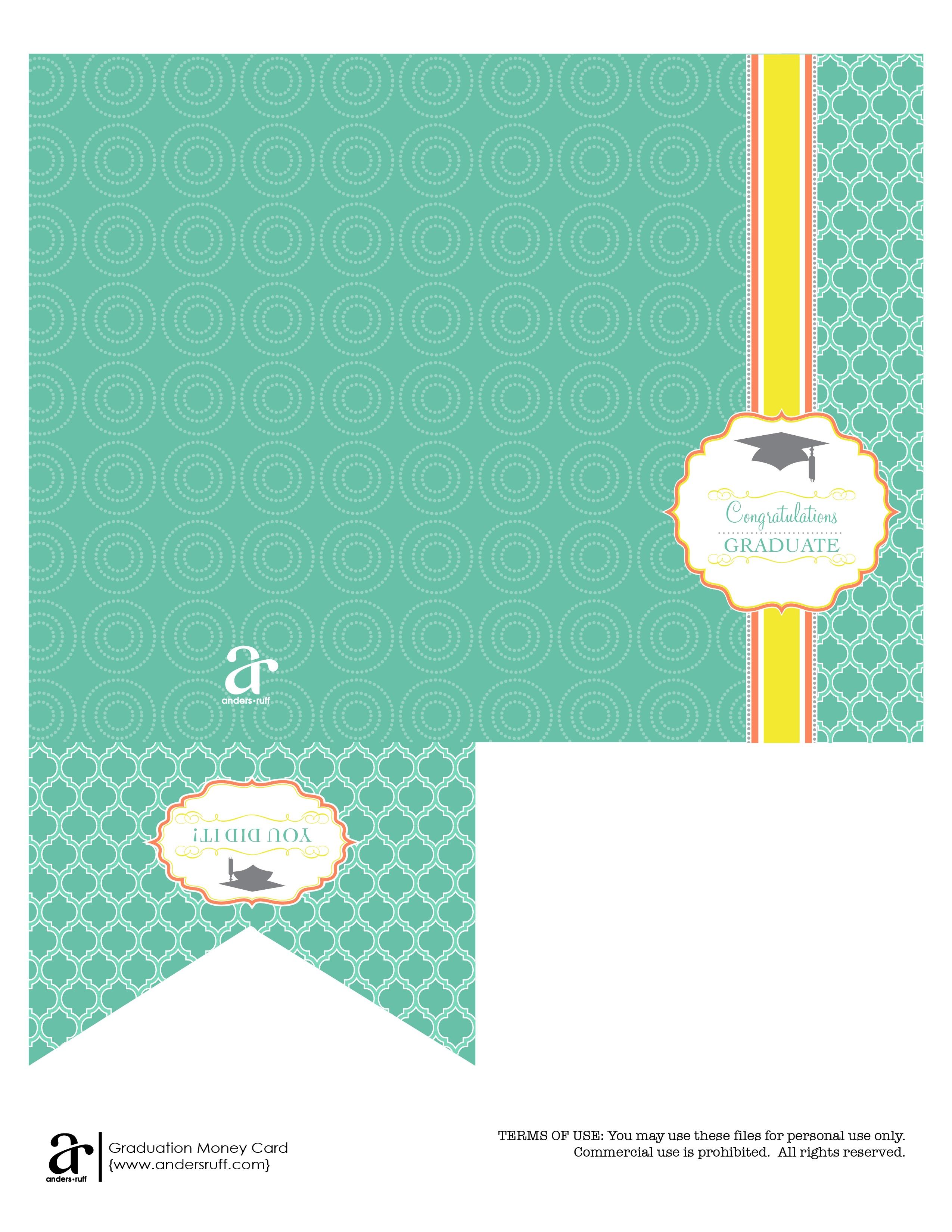 Ruff Draft: Free Printable Graduation Money Card - Anders Ruff - Free Printable Graduation Paper