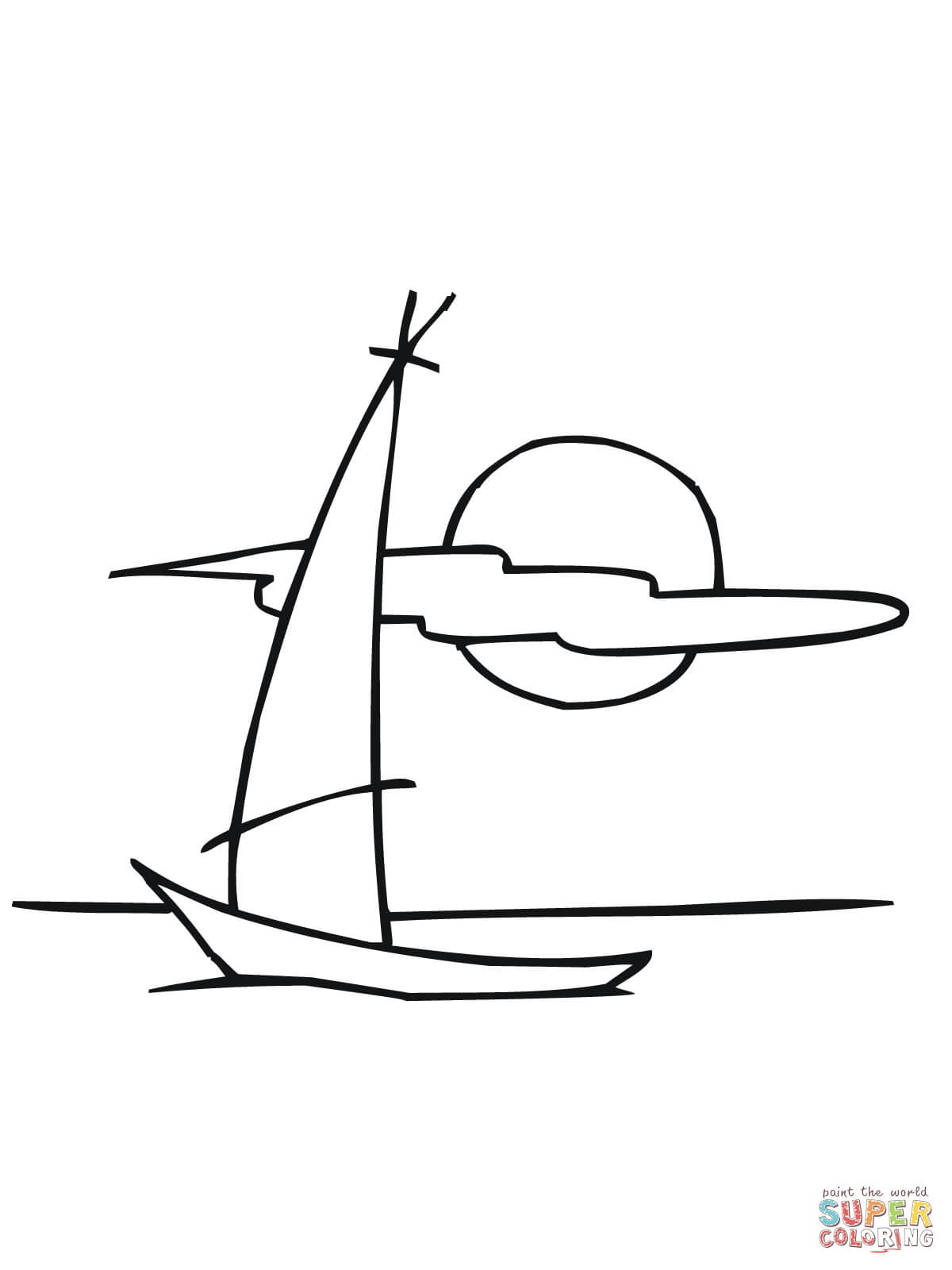 Sailing Dinghy Boat Coloring Page   Free Printable Coloring Pages - Free Printable Sailboat Template