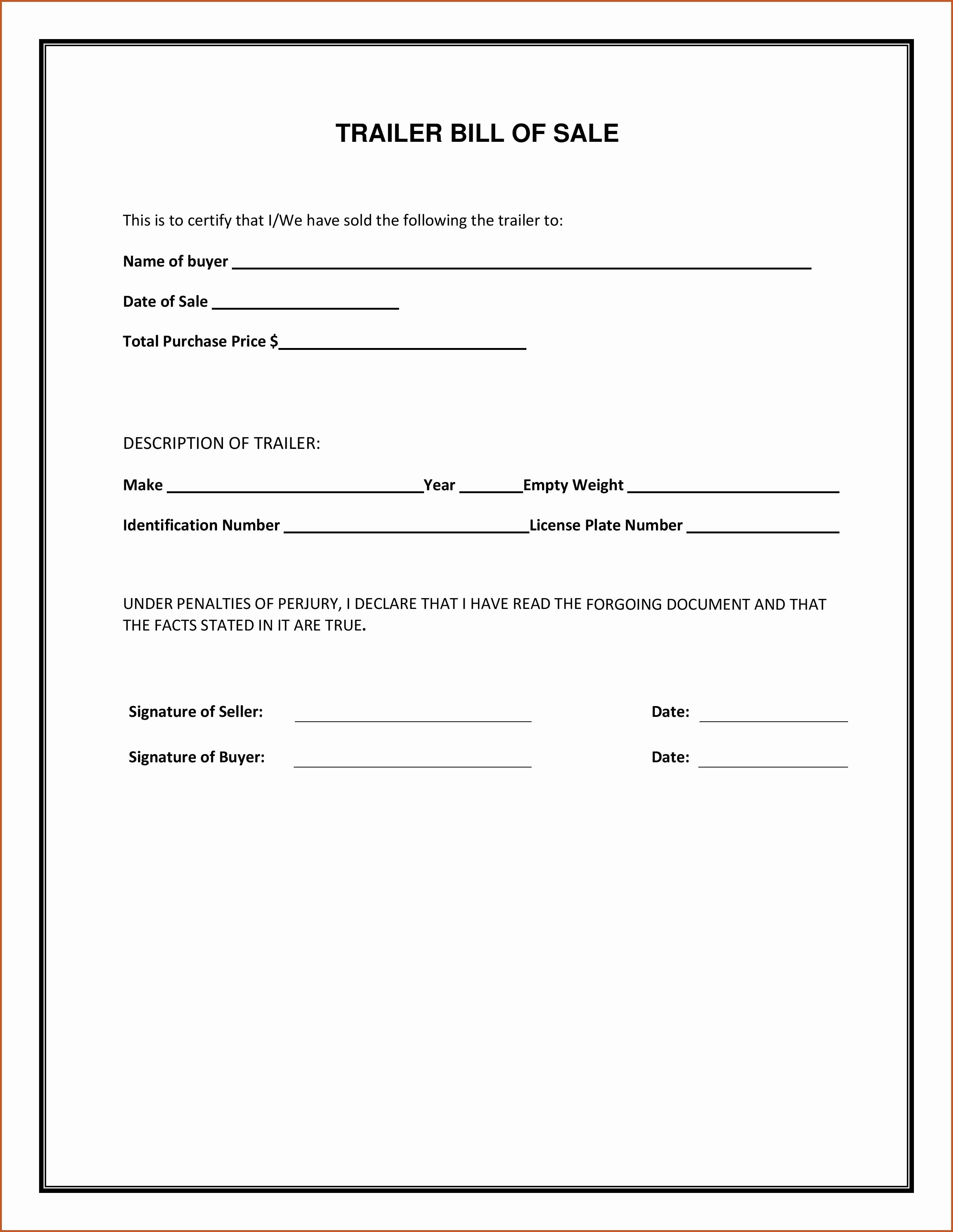 Sample Auto Bill Of Sale – Emeline.space - Free Printable Automobile Bill Of Sale Template