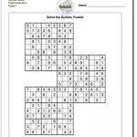 Samurai Sudoku Triples | Math Worksheets | Sudoku Puzzles, Puzzle   Free Printable Samurai Sudoku