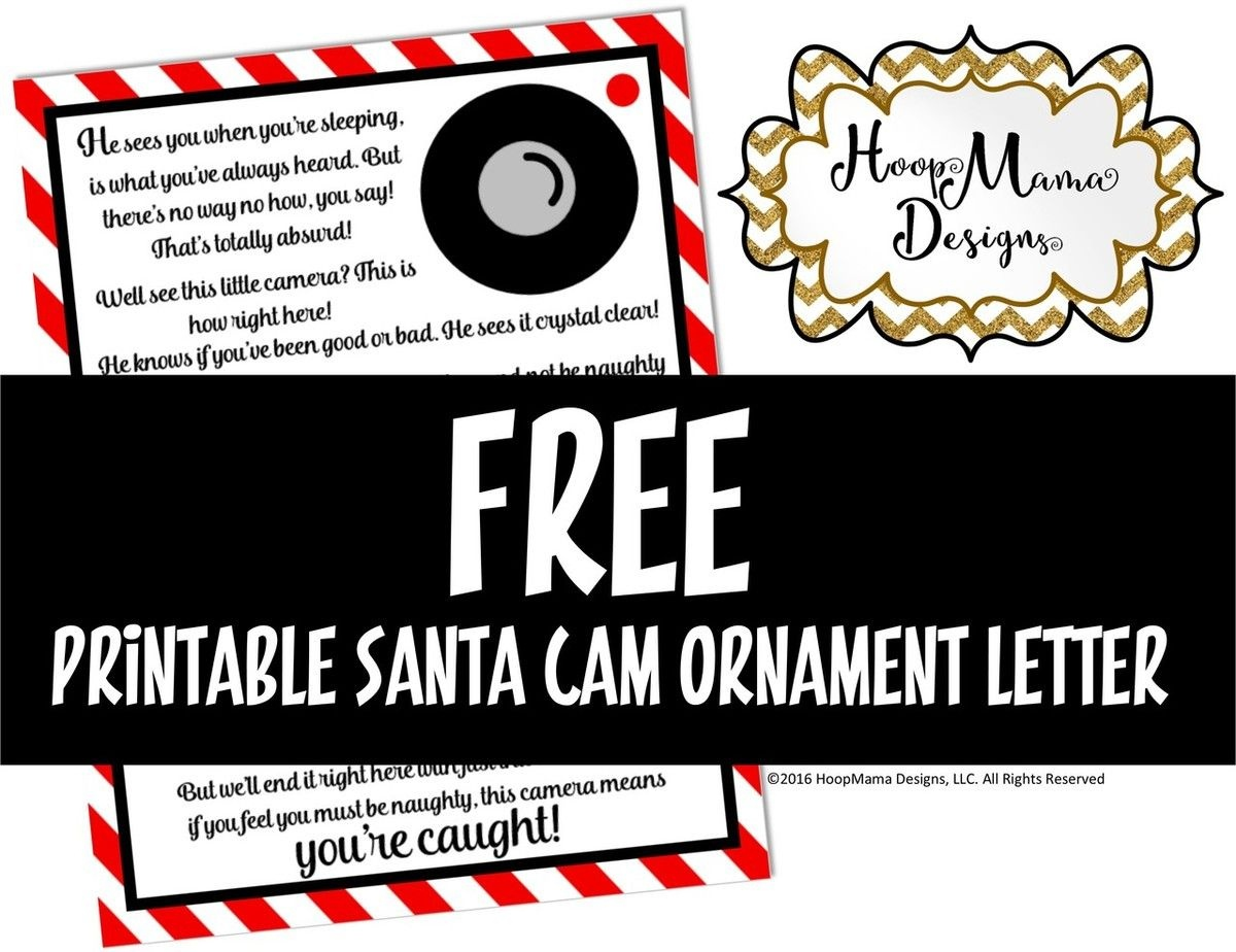 Santa Camera Letter Printable Download | Silhouette Cameo Tutorials - Free Printable Smile Your On Camera Sign