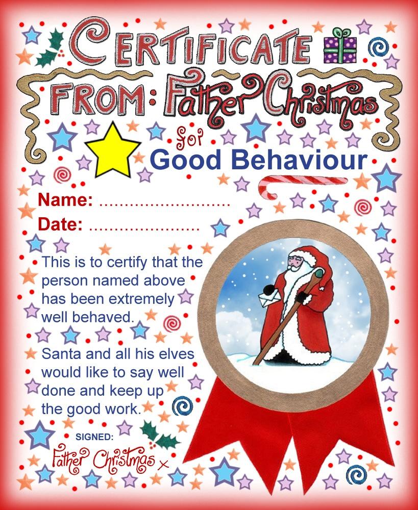 Santa Certificate: Good Behaviour   Rooftop Post Printables - Good Behaviour Certificates Free Printable