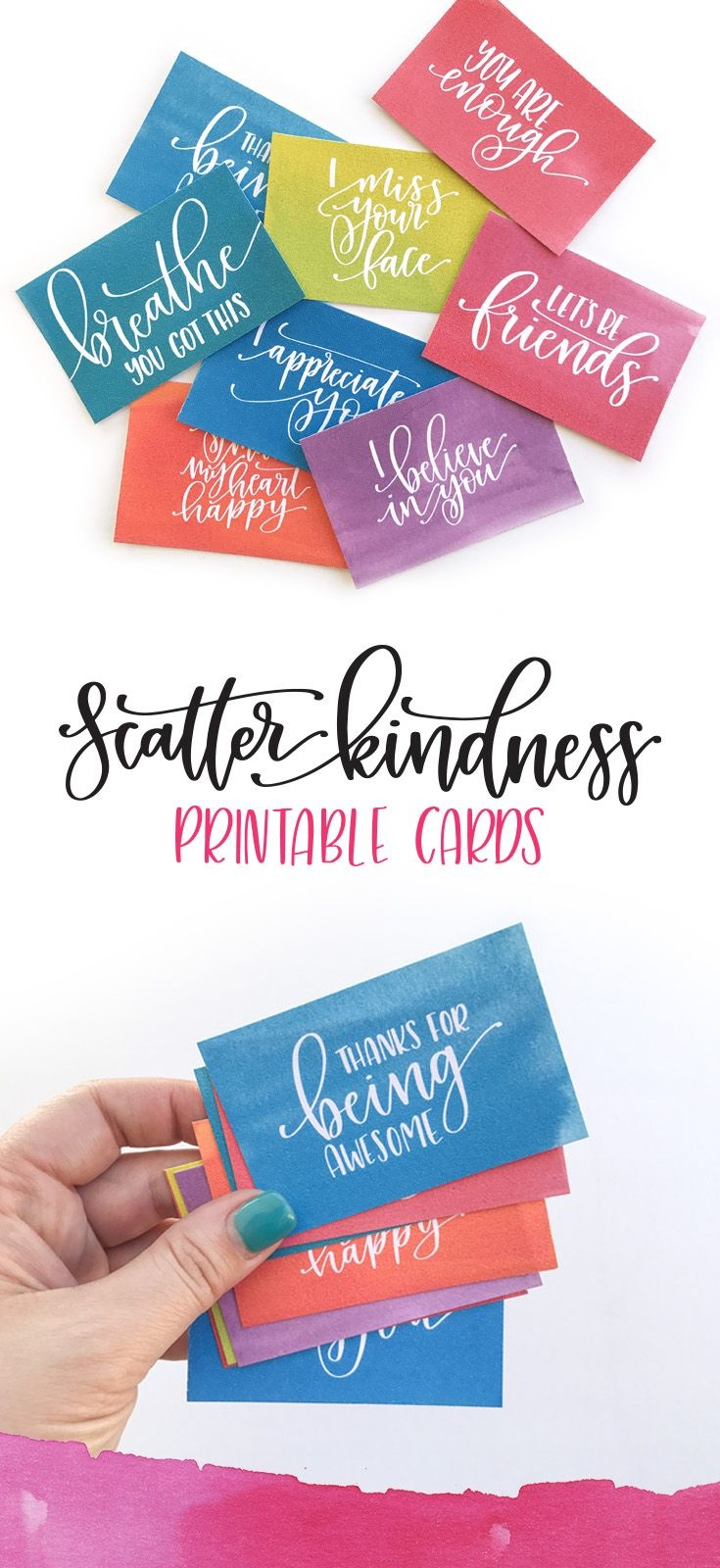 Scatter Kindness : Free Printable   Pretty Printables   Kindness - Free Printable Kindness Cards