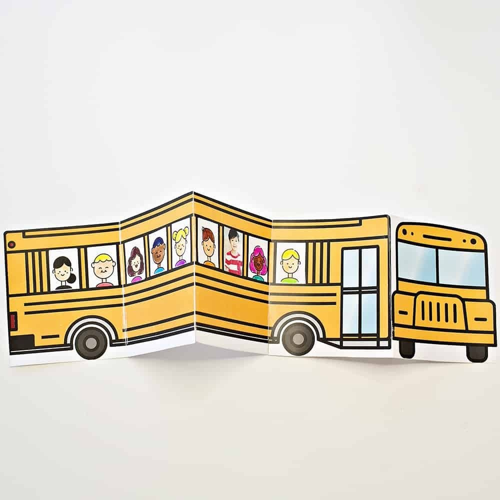 School Bus Of Friends Free Printable | Crafts | Templates Printable - Free Printable School Bus Template