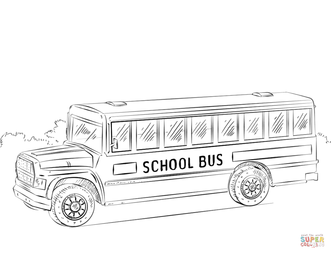 School Bus Printable Coloring Page Free | Coloring Pages - Free Printable School Bus Template