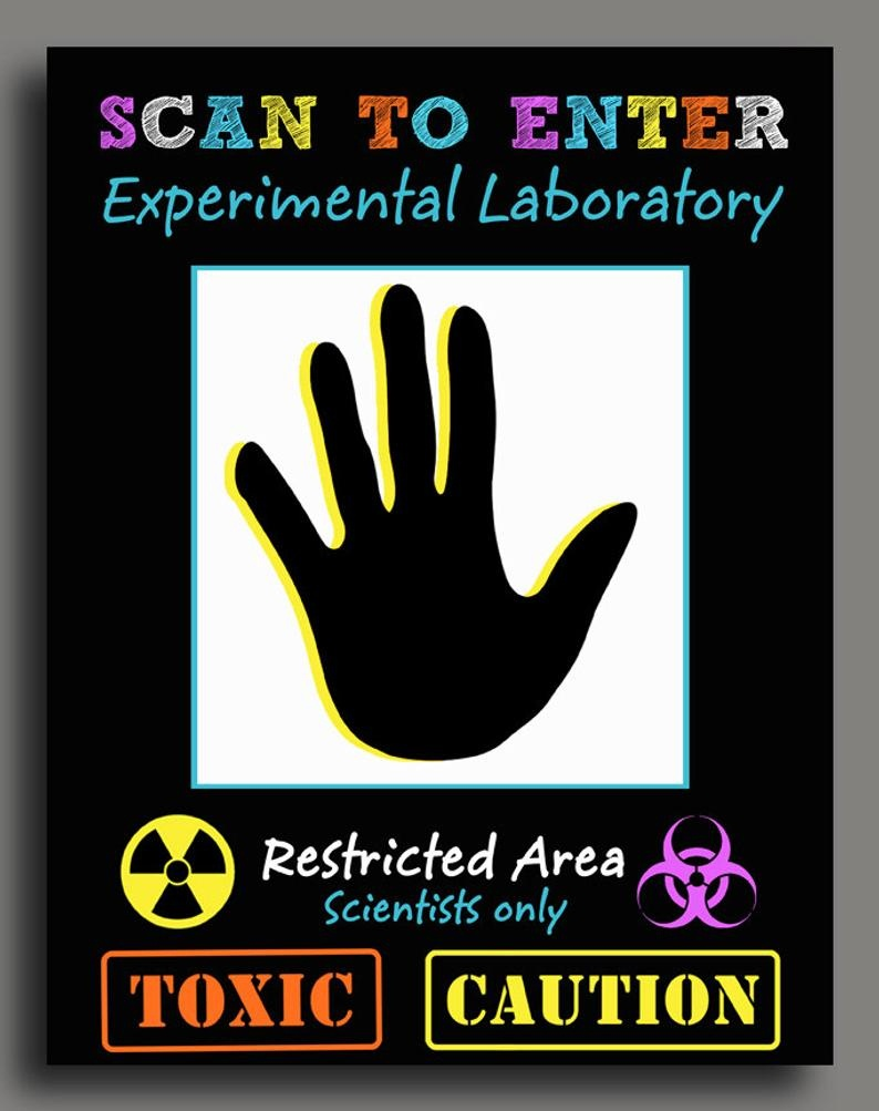Science Scan To Enter Sign Printable Super Science   Etsy - Scan To Enter Sign Printable Free