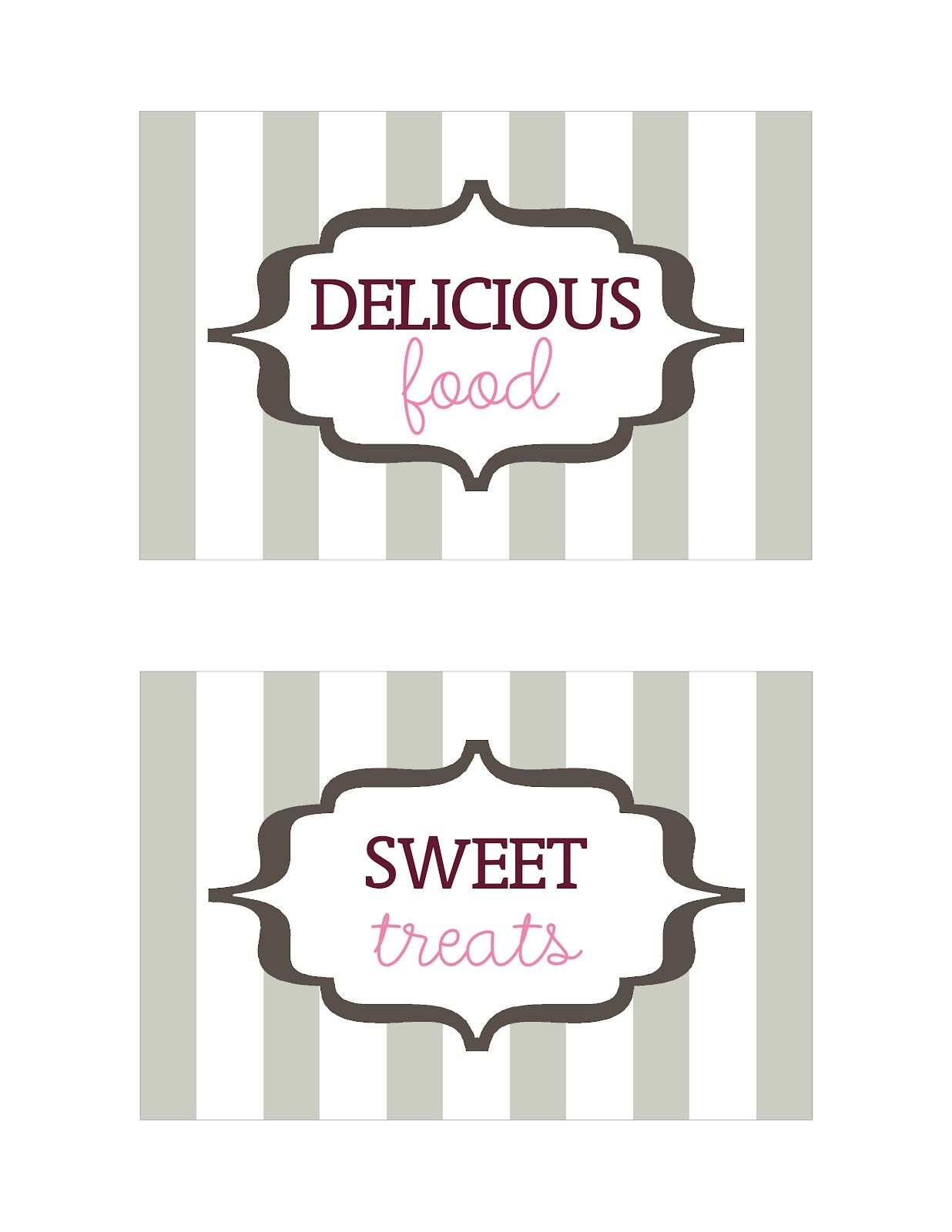 Seriously Daisies: Table Signs (Printable)   Oh Baby Baby Shower - Free Printable Baby Shower Table Signs
