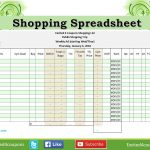 Shopping Spreadsheet, Great List To Go Shopping When Using Coupons - Free Printable Coupon Spreadsheet