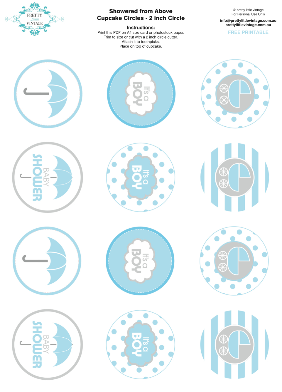 Showered From Above Rain Boy Baby Shower Printables Planning Ideas - Free Printable Baby Shower Labels And Tags